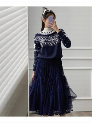 Christian Dior                                                                                        Dioralps stand collar sweater