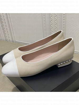 Chanel Suede Chain Ballerinas Pastel Gray Spring/Summer 2021 Collection