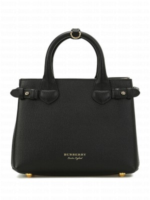 Burberry The Banner Small Leather Bag Black