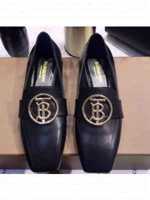 Burberry Monogram Motif Leather Loafers Black 2020