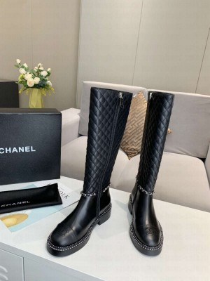 Chanel Calfskin Black Long Boots 06 2021 Collection