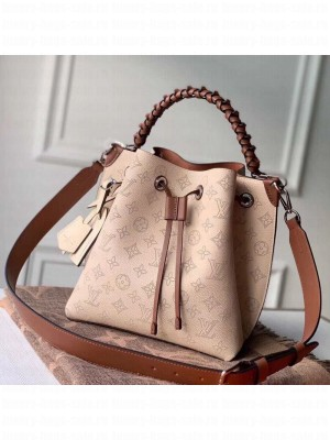 Louis Vuitton Muria Mahina Monogram Perforated Leather Bucket Bag M55801 Nude 2019 Collection