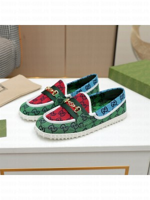 GUCCI GG multicolor Loafer Green 2021 Collection