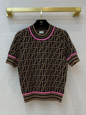 Fendi FF T-shirt F21060513 Brown/Rosy  2021 Collection