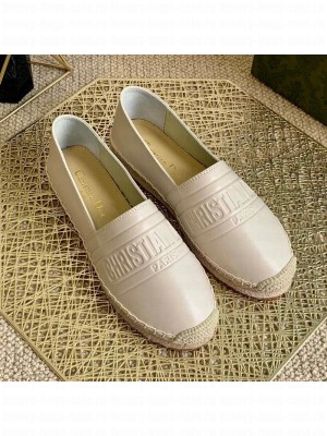Dior Granville Espadrilles in White Embossed Lambskin Spring/Summer 2021 Collection