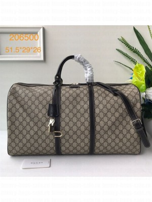 Gucci GG Canvas Carry-on Duffle Travel Bag 206500 Coffee  Collection