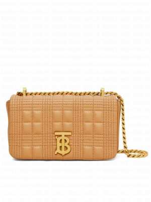 Burberry Mini Quilted Lambskin Lola Bag Apricot