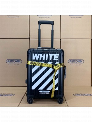 Off-White x Rimowa Striped Luggage Travel Bag Black 20/26/30 inches 2019 Collection