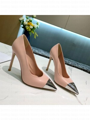 Louis Vuitton Urban Twist Leather Pump 5.5/10.5cm with Silver Cap Pink 2021 Collection