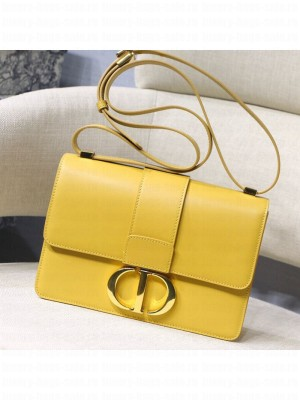 Dior 30 Montaigne CD Flap Bag in Smooth Yellow Calfskin 2019 Collection