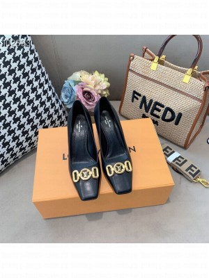 Louis Vuitton ROTARY 70mm square toe Black Pump 2021 Collection