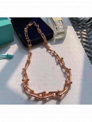 Tiffany & Co. Tiffany HardWear Graduated Link Necklace Pink Gold 2020 Collection