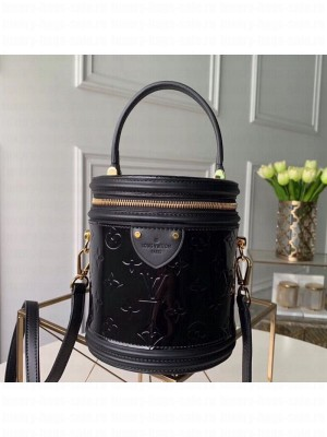 Louis Vuitton Cannes Bucket Case Top Handle Bag in Patent Leather M53997 Black 2019 Collection