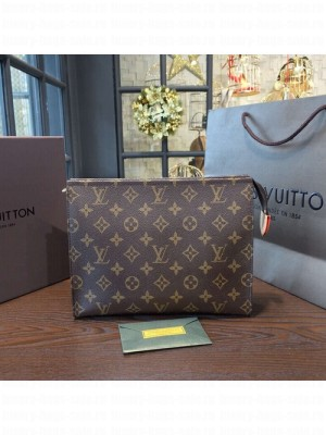 Louis Vuitton Toiletry Pouch 26 Clutch GM Monogram Canvas Leather Canvas Bag Fall/Winter 2016 Collection M475423