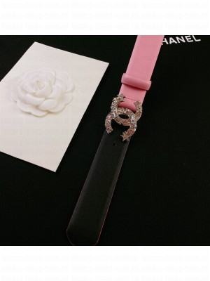 Chanel Calfskin Belt 3cm with Star CC Buckle Pink  2021 Collection