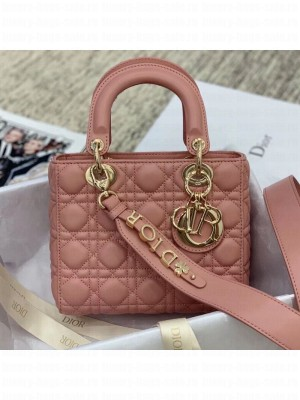 Dior MY ABCDior Medium Bag in Cannage Leather Pink 2019 Collection