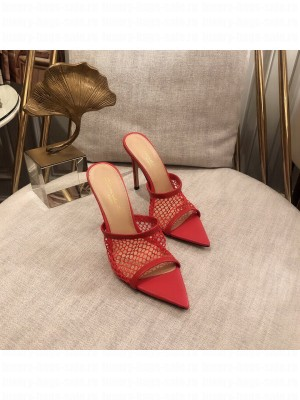 GIANVITO ROSSI Mesh MULE 105 Red Spring/Summer 2021 Collection