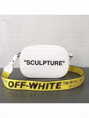 Off-White Leather Sculpture Camera Bag White 2018 Collection