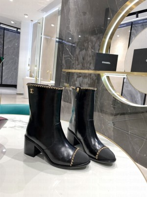 Chanel Calfskin 5cm Black Boots 2021 Collection