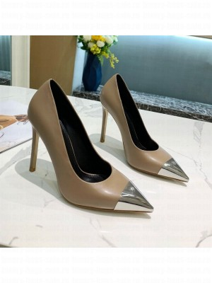 Louis Vuitton Urban Twist Leather Pump 5.5/10.5cm with Silver Cap Grey 2021 Collection