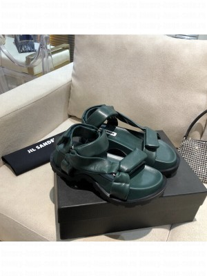 JIL SANDER Outdoor platform sandals with cleated rubber sole Green 2021 Collection