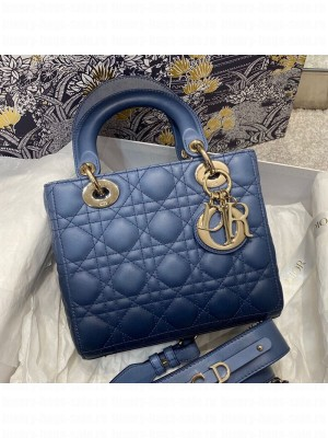 Dior Lady Dior My ABCDior Small Bag in Indigo Blue Gradient Cannage Lambskin  2021 Collection