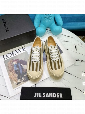 JIL SANDER Leather sneakers with vulcanized rubber sole 12 2021 Collection