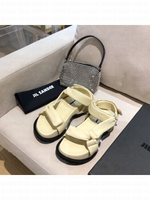 JIL SANDER Outdoor platform sandals with cleated rubber sole Beige 2021 Collection