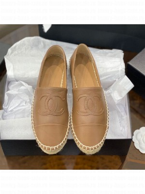 Chanel CC Shiny Lambskin Espadrilles Beige Spring/Summer 2021 Collection 53