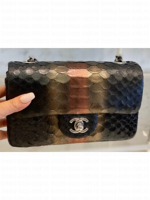 Chanel Python Classic Flap Small Bag A1116 05