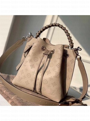 Louis Vuitton Muria Mahina Monogram Perforated Leather Bucket Bag M55799 Beige 2019 Collection