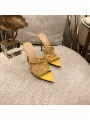 GIANVITO ROSSI Mesh MULE 105 Yellow Spring/Summer 2021 Collection