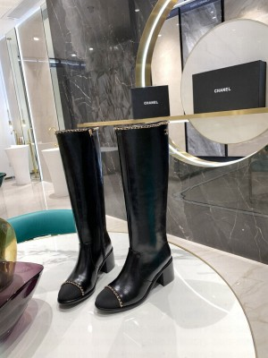 Chanel Calfskin Black Long Boots 03 2021 Collection
