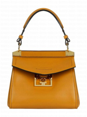 Givenchy Mini Mystic Leather Top Handle Bag Coffee