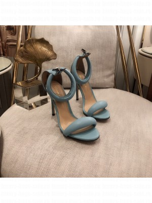 Gianvito Rossi BIJOUX 105/75 MM leather Sandals Spring/Summer 2021 Collection Blue