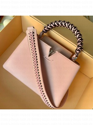 Louis Vuitton Capucines BB with Braided Handle M55236 Pink 2019 Collection