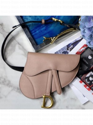 Dior Saddle Palm-Grained Leather Belt Bag Nude 2019 Collection