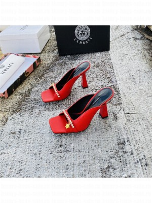 VERSACE ARTIFACT 95MM MULES RED 2021 Collection