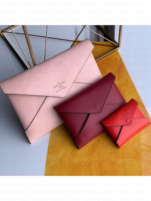 Louis Vuitton Pochette Kirigami Triple Envelope Pouch in Epi Leather M62457 Pink 2019 Collection