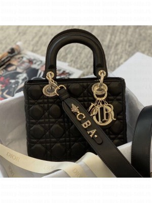 Dior MY ABCDior Medium Bag in Cannage Leather Black 2019 Collection