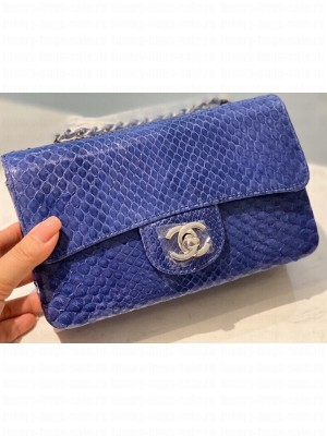 Chanel Python Classic Flap Small Bag A1116 02