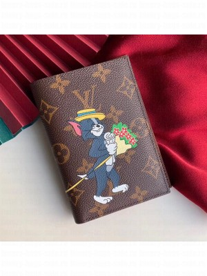 Louis Vuitton Monogram Canvas Tom and Jerry Print Passport Cover M64411 2019 Collection