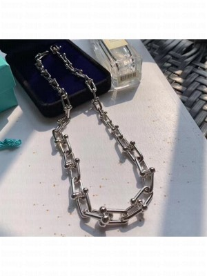 Tiffany & Co. Tiffany HardWear Graduated Link Necklace Silver 2020 Collection
