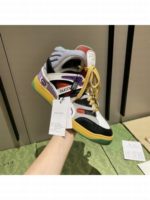 Gucci Unisex Basket High-Top Sneakers 02 2021 Collection