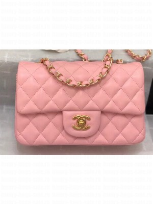 Chanel Lambskin Small Classic Flap Bag A1116 Pink