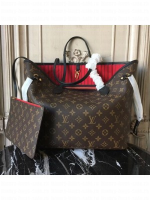 Louis Vuitton Neverfull GM Monogram Canvas Cruise 2016 Collection, Cherry  M41177