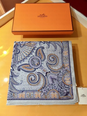 Hermes Shawl in cashmere and silk 140 x 140cm 2021 H058
