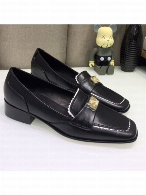 Chanel Contarsting Trim Lambskin Loafers Black Spring/Summer 2021 Collection