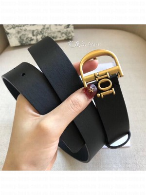 Dior Width 3cm Calfskin Belt With Special Dior Buckle 10 Black 2020 Collection