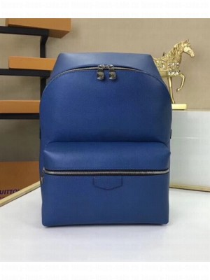 Louis Vuitton Men's Discovery Backpack PM M33450 Blue 2018